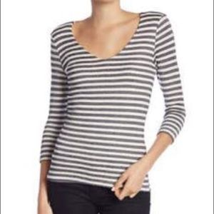 Michael Stars Shine Double Front V Neck Top